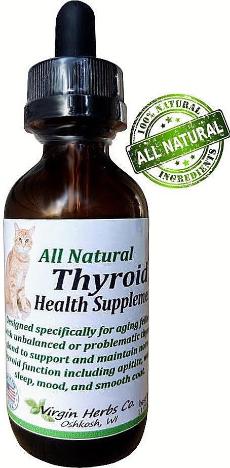60ML Natural Cat-Dog-Pet Hyperthyroid Thyroid Gland Wellbeing Support Supplement