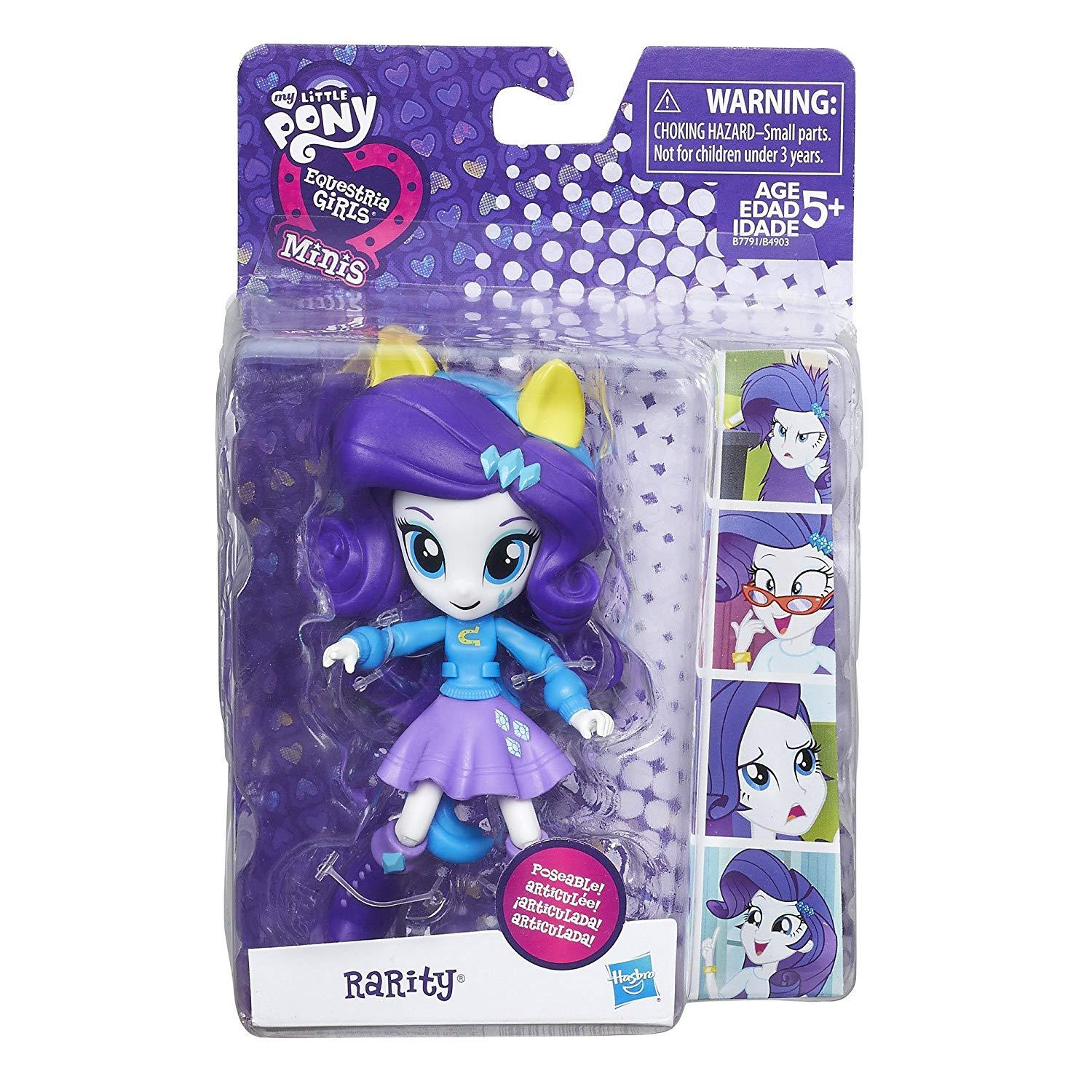 My Little Pony Rarity Equestria Girls Minis Poseable Doll Figure 2015 MLP