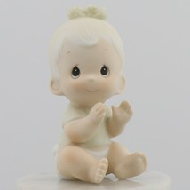 Precious Moments Vintage Collectible Porcelain Figurine Baby Clapping  - $6.96