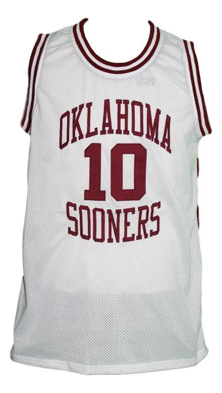 Mookie blaylock  10 custom college oklahoma sooners basketball jersey white   1