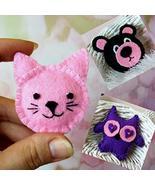 Miniature felt animal pillows. Decorative dollhouse cushion cutie plush ... - $9.90