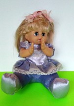 """Singing Animated Girl Doll 9"""" Tall Blue Outfit - $7.70"""