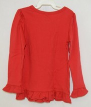 Blanks Boutique Girls Red Long Sleeve Ruffle Tee Shirt Size 4T image 2