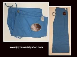 Ashley Junior Casual Capri Linen Pants Sz L Ocean Blue image 1