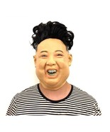 Kim Jong Un Costume Mask Halloween Latex Party Face Funny Cosplay Masque... - $27.99