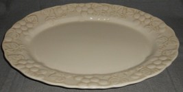 "Metlox ANTIQUE GRAPE PATTERN 14 1/4"" Oval Serving Platter MADE IN CALIFO... - $29.69"