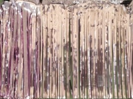 "Metallic pink Fringed Garland Valance Party decoration 10 ft long x 15"" - $7.91"