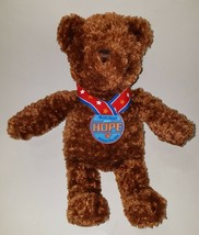 "GUND Wish Bear Plush 2003 Hope Medal Brown 13"" Teddy Stuffed Animal Toy ... - $10.84"