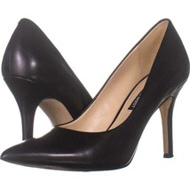 Nine West Flax Classic Pumps 260, Black Leather, 7.5 US - £24.20 GBP