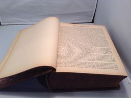 Antique Leather Bound Webster Dictionary  image 9