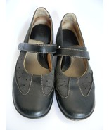 Born Womens Black Leather Upper Shoes with Strap Size 8 (EU 39) - $25.99