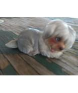 Vintage  NORCREST JAPAN SHAGGY Puppy Dog   FIGURINE Original Sticker - $9.99