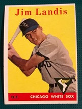 1958 Topps Baseball Card # 108 Jim Landis - White Sox - $6.88