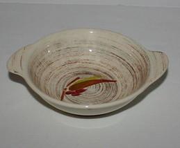 2 Lug Handle Cereal Bowls Vernonware Trade Winds Metlox Brown Green Red ... - $9.85