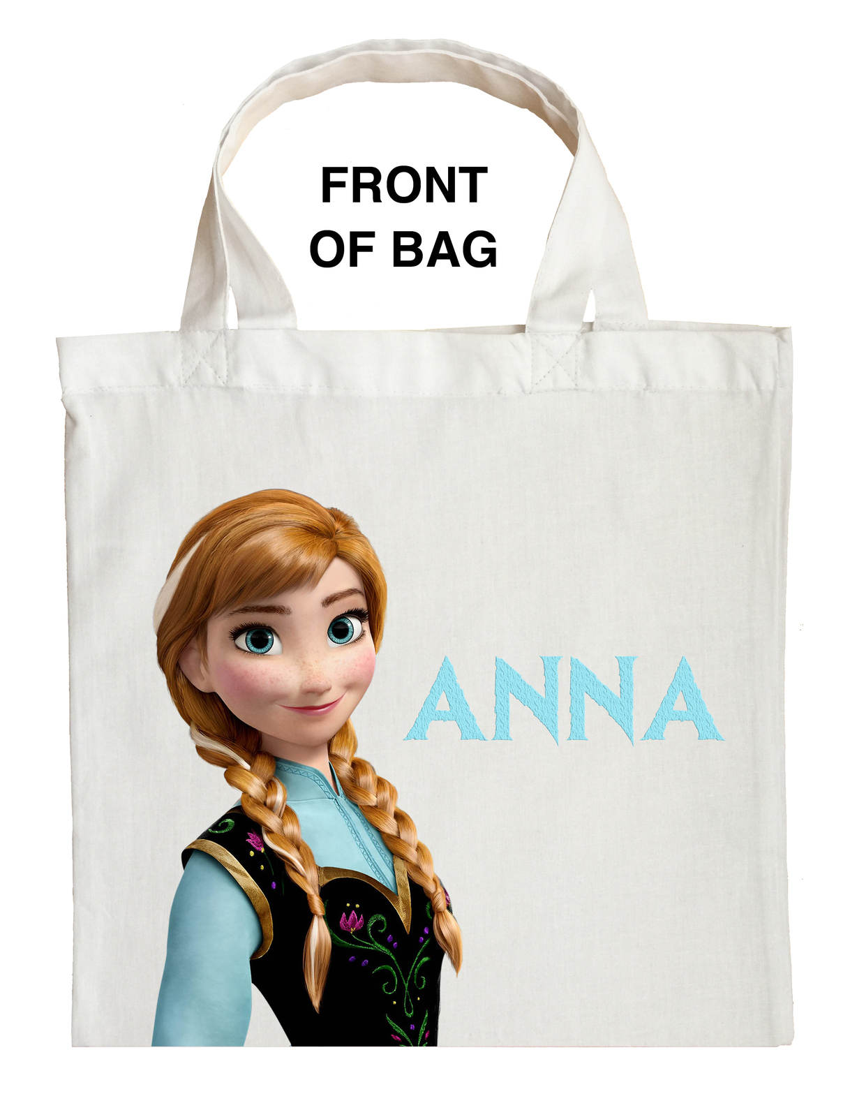 Anna Trick or Treat Bag, Personalized Anna Halloween Bag, Custom Anna Loot bag