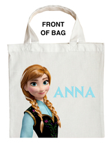 Anna Trick or Treat Bag, Personalized Anna Halloween Bag, Custom Anna Loot bag image 1