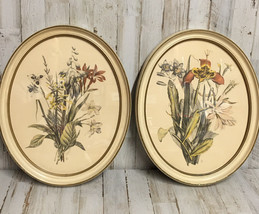 "Vintage Oval Frames with IBFCo  Floral Framed Pictures 14"" x 11"" - $15.85"