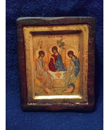 Certified Copy  Hand Painted Byzantine Icon The Holy Trinity  - $300.00