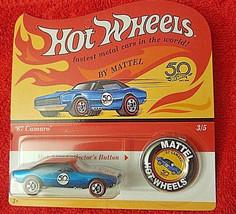 2018 Hot Wheels 50th Anniversary Redline Replica #3/5 '67 CAMARO UNPUNCHED - $6.43