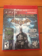 BATMAN ARKHAM ASYLUM PS3 GAME OF THE YEAR EDITION GREATEST HITS - $3.00