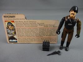 Vintage GI JOE Action Figure 1983 Major Bludd 100% w Peach File Card - $15.05