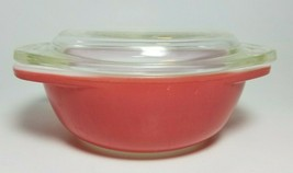 Pyrex Mini Casserole Party Pan With Lid Pink Flamingo # 080 8oz  - $19.75