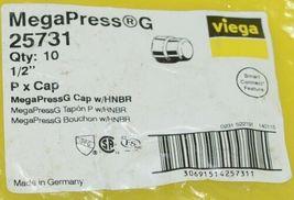 Viega MegaPress G 25731 Carbon Steel Cap HNBR Package Of Ten image 4