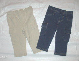 Toddler Girls Childrens Place Beige Blue Jean Leggings Size 3T NWT - $8.44