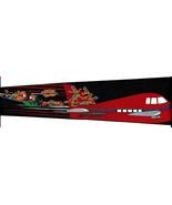 Hold On Santa Men's Neck Tie Holiday Reindeer Plane Christmas Black Necktie  - $14.85