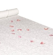 Hortense B. Hewitt Wedding Accessories Fabric Aisle Runner, White with F... - $37.58