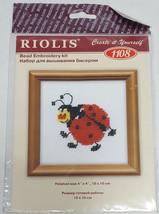 "RIOLIS Ladybug Bead Embroidery Cross Stitch Kit 1108 NEW 4"" x 4"" Animal ... - $9.99"