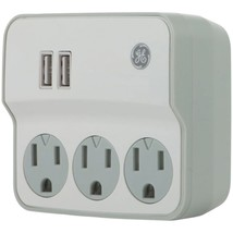 GE(R) 32193 3-Outlet Current Wall Tap with USB Port - $33.08