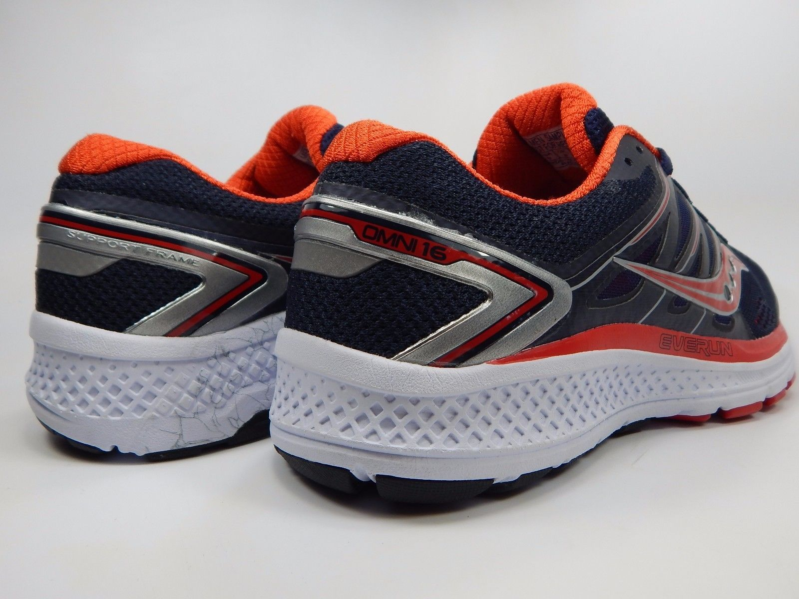 Saucony Omni 16 Men's Running Shoes Size US 9 M (D) EU 42.5 Navy Red S20370-2