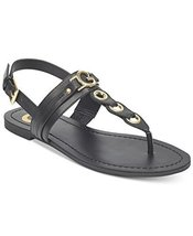 G by GUESS Lesha Women's Flat Sandals (6.5, Black)