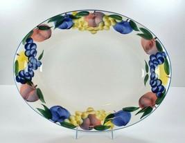 "Dansk Tuscany Italy Large 17.5"" x 13.5"" Pasta Serving Bowl Oval Fruit Border - $77.22"