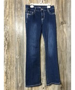 GirlsFirst Jeans Girls Size 14 Jeans Denim Medium Blue Msre 28x28 - $14.84
