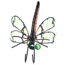 Dragonfly with Glow in the Dark Wing Pot Edge Sitter on Hook Garden Decoration image 6