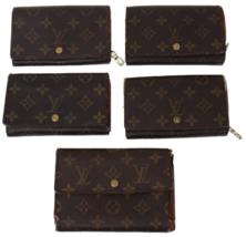 ★LOUIS VUITTON Monogram Lot of 5 Bulk Tresor, Etui Papiers Wallet Used A... - $180.00