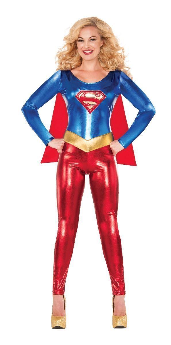 Rubini Adulto Super Girl Tuta Elasticizzata Dc Comics Supereroe