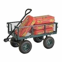 NEW 1000 lb Capacity Cart Utility Heavy Duty Tow Wood Carts Steel Garden... - $176.12