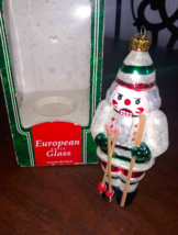 Santa's Best Nutcracker European Glass Christmas Ornament Skier Skiing 1... - $14.26