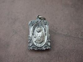 Vintage Catholic Medal St. Bernadette Souibrous & Our Lady of Lourdes ORNATE! - $23.38