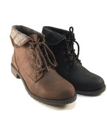 Cliffs by White Mountain Neponset Lace Up Low Heel Ankle Booties Choose ... - $35.20