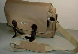 "Canon Tan SLR DSLR Camera Bag 12"" Wide 10"" Tall for Camera & Lenses - $24.74"