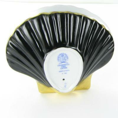 Herend Scallop Shell Black Fishnet Hungary Porcelain 24K Accents VHNM-15534 New