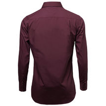 NEW Omega Italy Men's Dress Shirt Long Sleeve Solid Color Regular Fit 10 Colors image 9