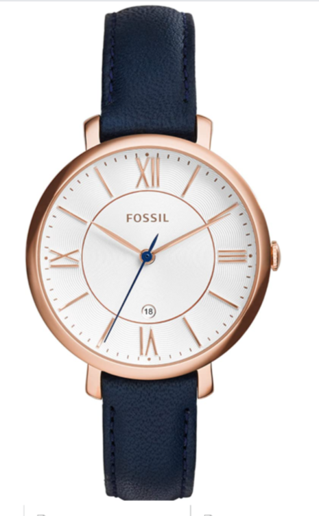 Primary image for Fossil Women Jacqueline Stainless Steel and Leather Casual Quartz Watch ES3843