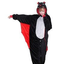 Adults' Kigurumi Pajamas Bat Onesie Pajamas Flannel Fabric Black Cosplay... - $29.99