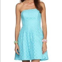 Women's Blue Lilly Pulitzer Caitlin Strapless Dress, Size 6 - $66.65