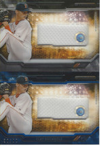 Clay Buchholz 2015 Topps Strata Clearly Authentic Relic CARC-CBZ 2-CARD Lot - $17.82